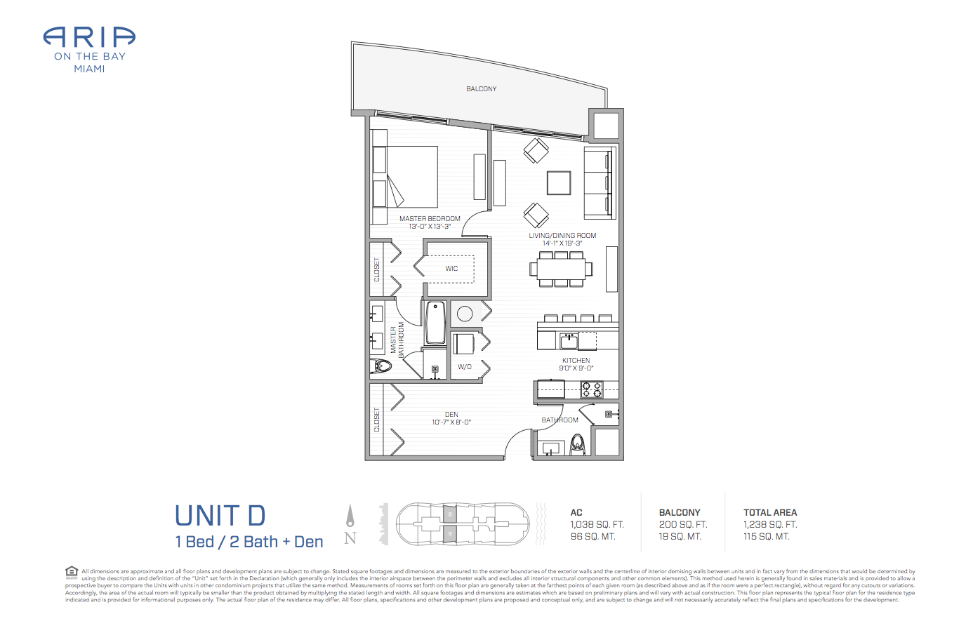 Floor plans aria on the bay condos for sale for On the floor on the floor